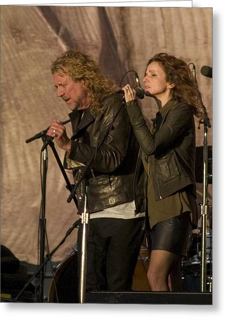 Live Performance Greeting Cards - Robert Plant and Patty Griffin Greeting Card by Bill Gallagher