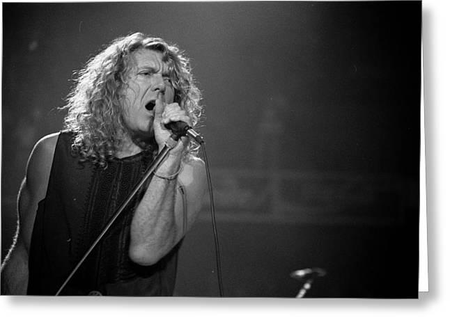 Robert Plant Performance Art Greeting Cards - Robert Plant Greeting Card by Timothy Bischoff