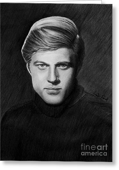 Dunaway Greeting Cards - Robert Redford Greeting Card by Loredana Buford