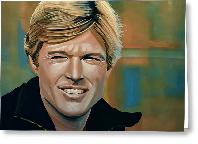 Robert Redford Greeting Card by Paul  Meijering