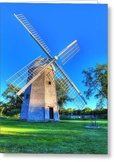 Andrew Pacheco Greeting Cards - Robert Sherman Windmill Greeting Card by Andrew Pacheco
