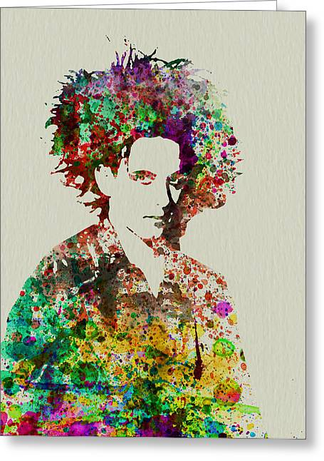 Music Bands Greeting Cards - Robert Smith Cure 2 Greeting Card by Naxart Studio