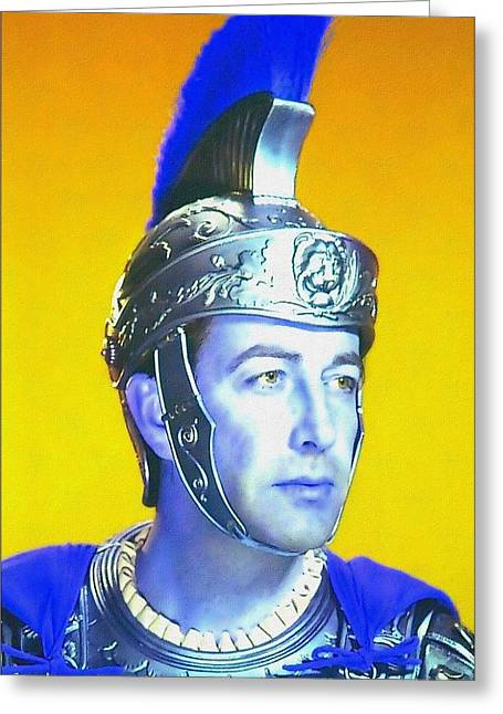 1951 Mixed Media Greeting Cards - Robert Taylor in Quo Vadis? Greeting Card by Art Cinema Gallery