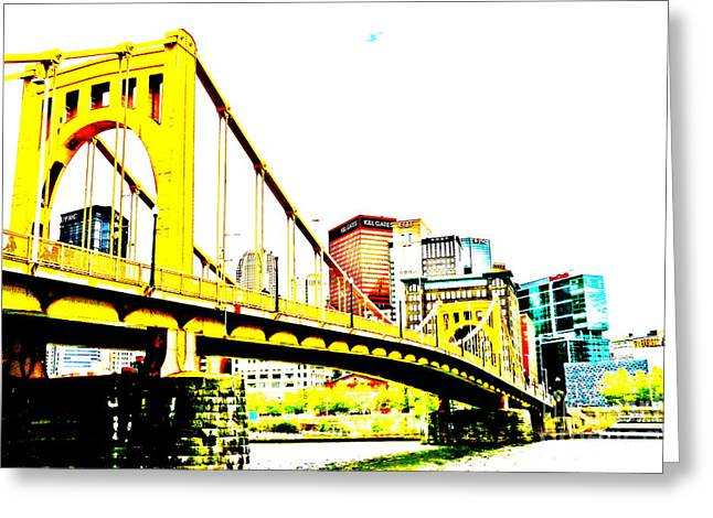 Jay Nodianos Greeting Cards - Roberto Clemente Bridge Greeting Card by Jay Nodianos
