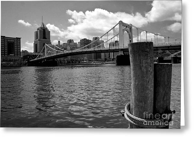 River View Greeting Cards - Roberto Clemente Bridge Pittsburgh Greeting Card by Amy Cicconi
