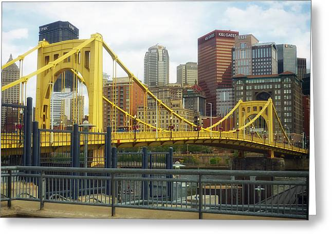 Roberto Greeting Cards - Roberto Clemente Bridge - Pittsburgh Greeting Card by Mountain Dreams