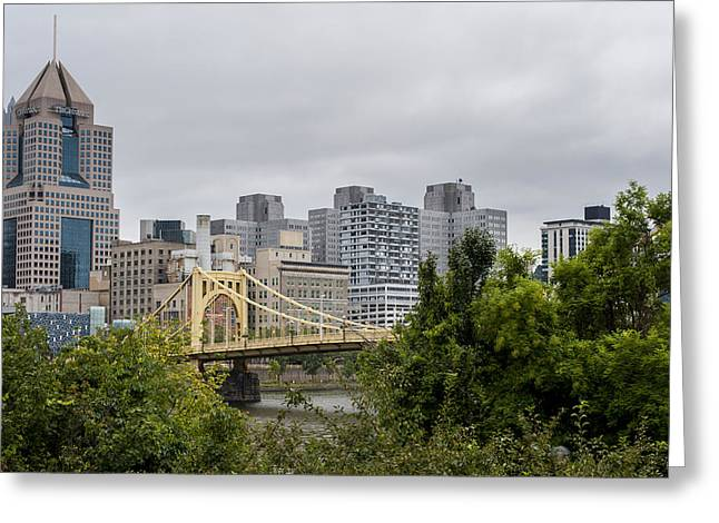 Bathroom Prints Greeting Cards - Roberto Clemente Bridge Pittsburgh PA Greeting Card by Terry DeLuco