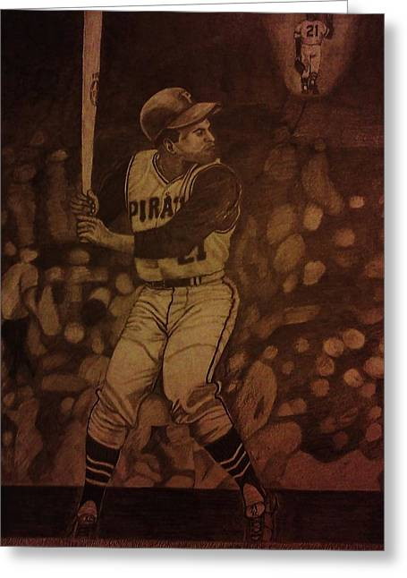Roberto Greeting Cards - Roberto Clemente Greeting Card by Christy Saunders Church