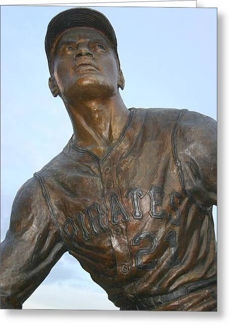Roberto Greeting Cards - Roberto Clemente Greeting Card by Sandy Fraser