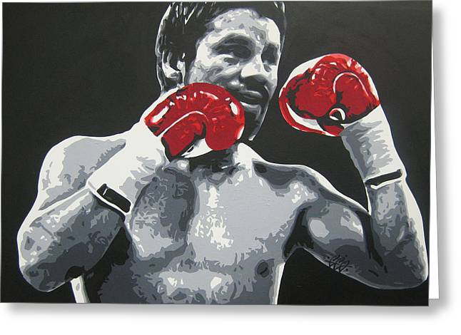 Roberto Greeting Cards - Roberto Duran 3 Greeting Card by Geo Thomson