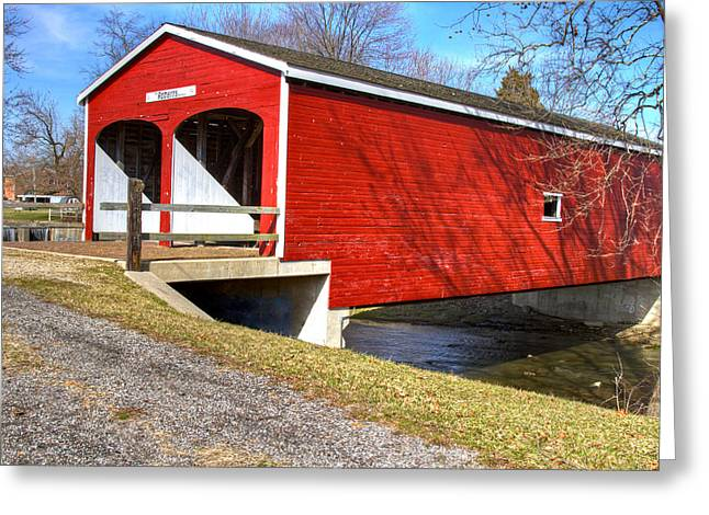 Jack R Perry Greeting Cards - Roberts Covered Bridge Greeting Card by Jack R Perry