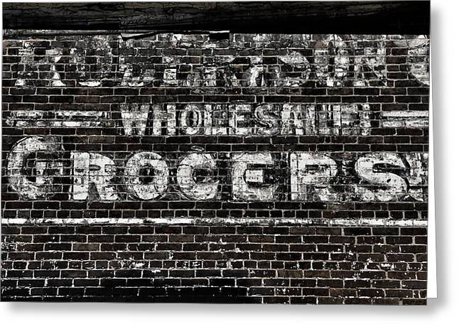 Ghost Signs Greeting Cards - Robertsons Greeting Card by Brandon Addis