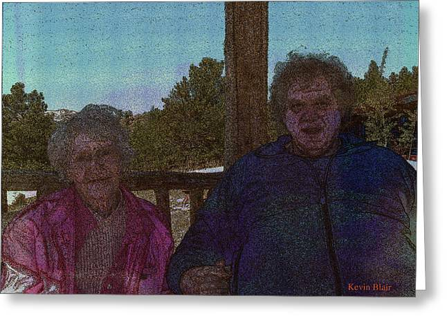 Modigliani Mixed Media Greeting Cards - Robin And His Mom Greeting Card by Kevin Blair