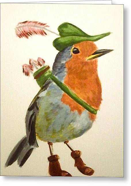 Robin Hood Hat Greeting Cards - Robin Hood Greeting Card by Jeanette Poteete