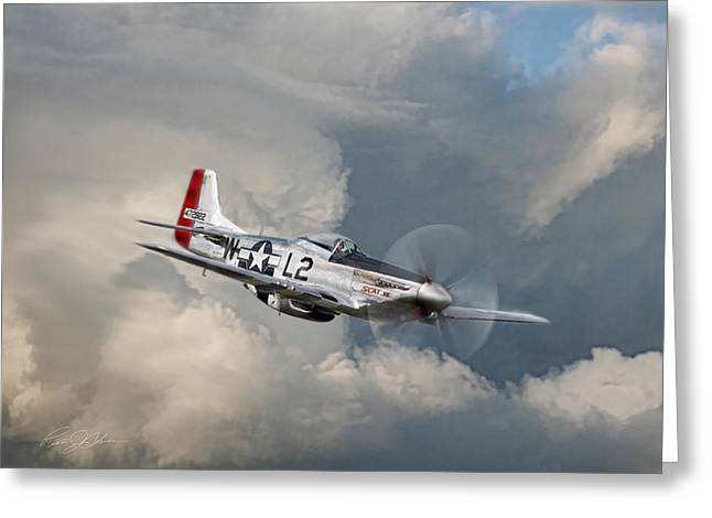 D Day Greeting Cards - Robin Olds Scat Vll Greeting Card by Peter Chilelli