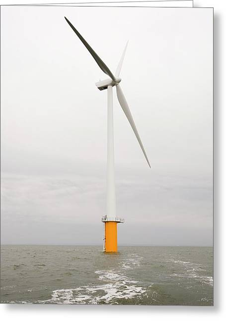 Robin Rigg Offshore Wind Farm Greeting Card by Ashley Cooper