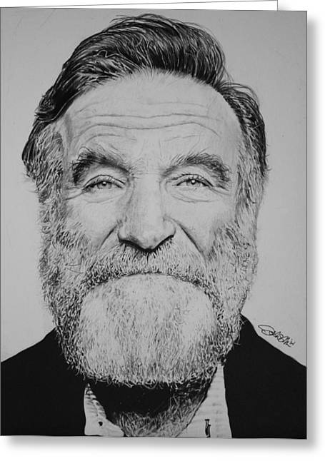 Comedian Greeting Cards - Robin Williams Greeting Card by Joshua Navarra