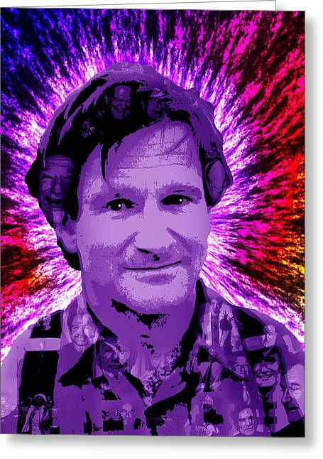 Award Digital Greeting Cards - Robin Williams Greeting Card by Michael Lee