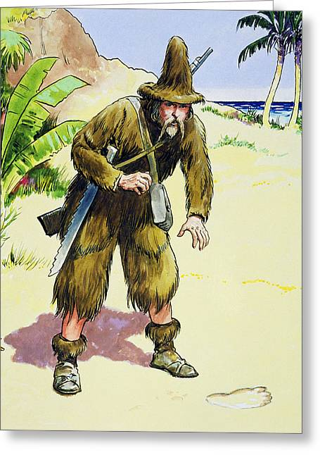 Survivors Greeting Cards - Robinson Crusoe, From Peeps Greeting Card by Trelleek