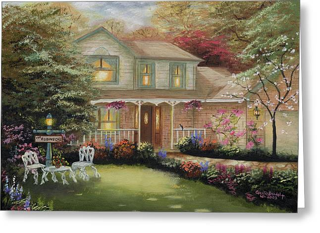 Kinkade Greeting Cards - Robinson House Greeting Card by Cecilia  Brendel