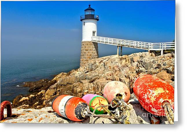 Haut Greeting Cards - Robinson Point Lighthouse Greeting Card by Adam Jewell