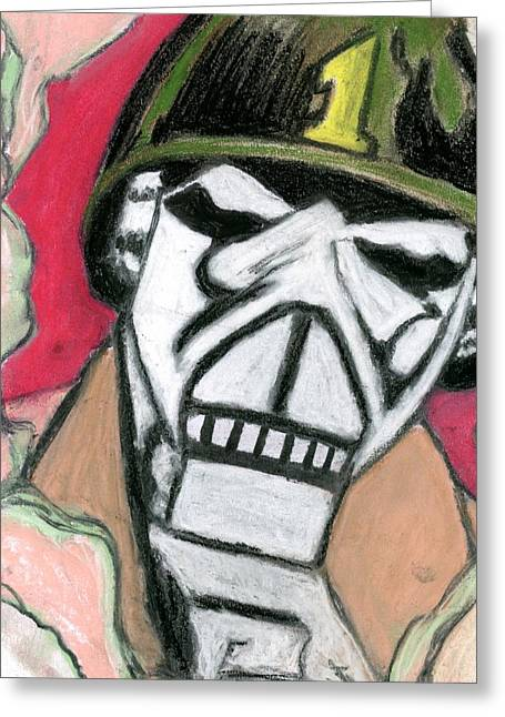 Military Pastels Greeting Cards - Robot 2 Greeting Card by Matthew Howard