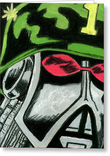 Military Pastels Greeting Cards - Robot 3 Greeting Card by Matthew Howard