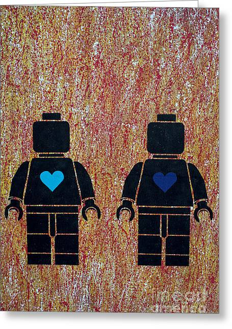 Kooky Greeting Cards - Robot Love II Greeting Card by David Lichtneker