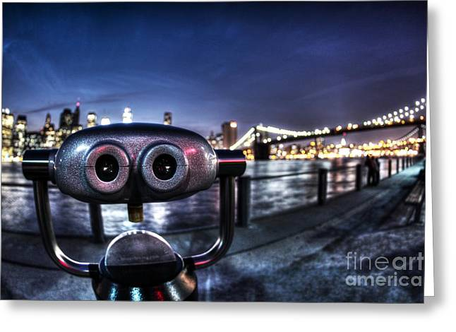 Robot Views Greeting Card by Andrew Paranavitana