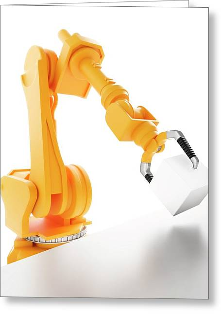 Robotic Equipment Greeting Card by Andrzej Wojcicki