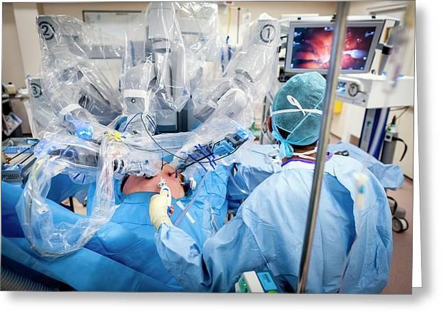 Robotic Prostate Surgery Greeting Card by Aberration Films Ltd