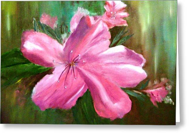 Azalias Greeting Cards - Robs Azalia Greeting Card by Larry Hamilton