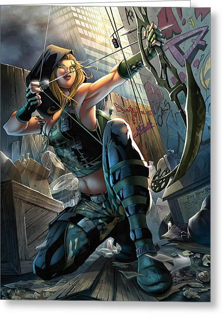 Tinker Bell Greeting Cards - Robyn Hood 05A Greeting Card by Zenescope Entertainment