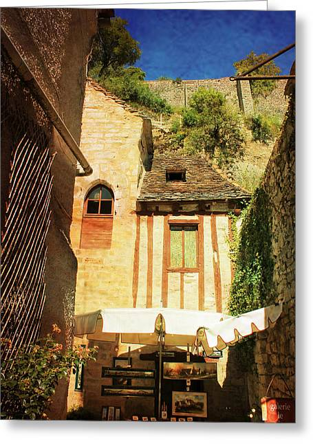 Stone House Greeting Cards - Rocamadour Greeting Card by Catherine Arnas