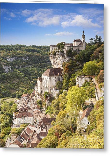 Midi Greeting Cards - Rocamadour Midi-Pyrenees France Greeting Card by Colin and Linda McKie