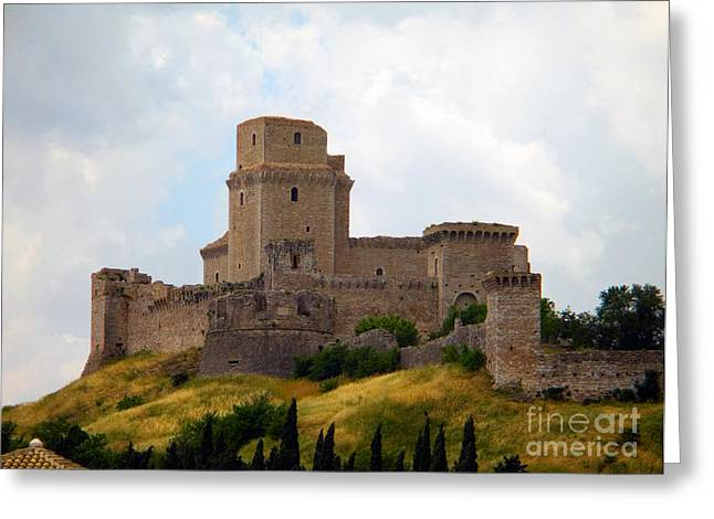 Rocca Maggiore, Assisi, Italy Greeting Card by Tim Holt
