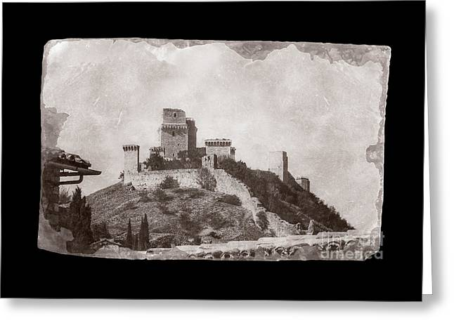 Rocca Maggiore Castle Greeting Card by Prints of Italy
