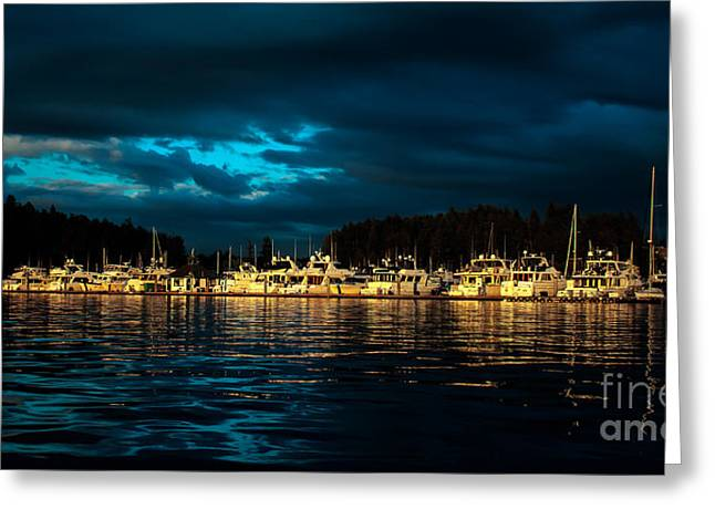 Haro Greeting Cards - Roche Harbor  at Sunset Greeting Card by Robert Bales
