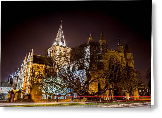 Rochester Greeting Cards - Rochester cathedral Greeting Card by Ian Hufton