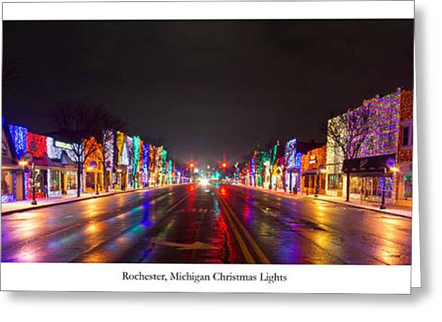 Rochester Greeting Cards - Rochester Christmas Lights Greeting Card by Twenty Two North Photography