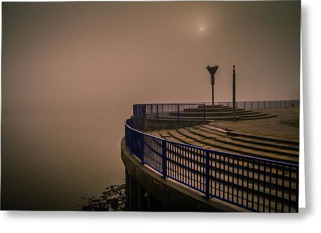 River Medway Greeting Cards - Rochester Fog Greeting Card by Dawn OConnor