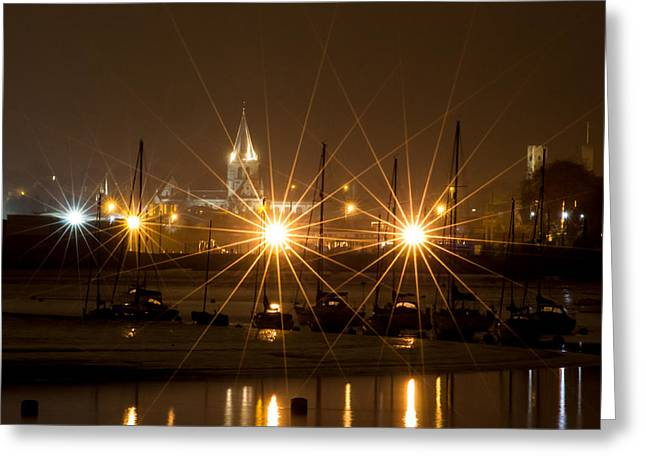 River Medway Greeting Cards - Rochester from the Medway Greeting Card by Ian Hufton