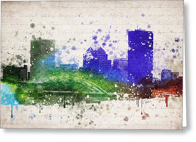Rochester Greeting Cards - Rochester in Color Greeting Card by Aged Pixel