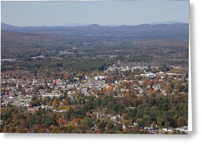Rochester Skyline Greeting Cards - Rochester, New Hampshire Greeting Card by Dave Cleaveland