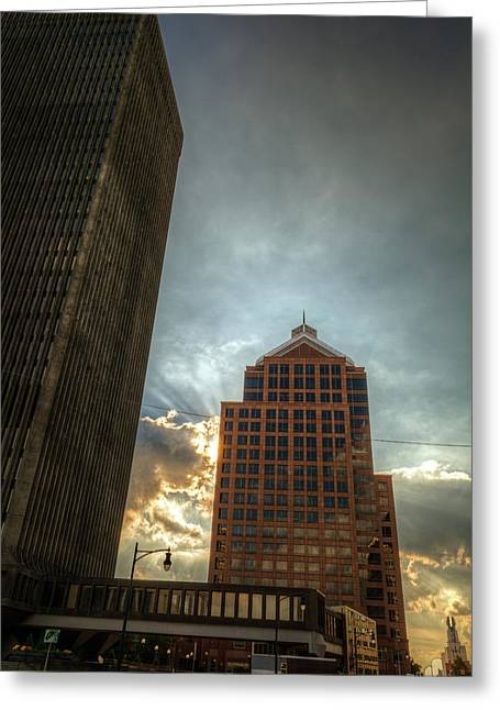 Rochester Skyline Greeting Cards - Rochester NY in HDR Skyline Greeting Card by Tim Buisman