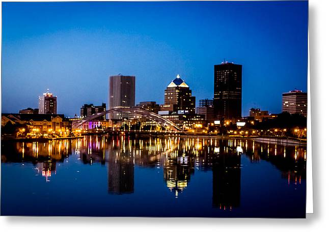 Best Sellers -  - Sunset Posters Greeting Cards - Rochester Reflections Greeting Card by Sara Frank