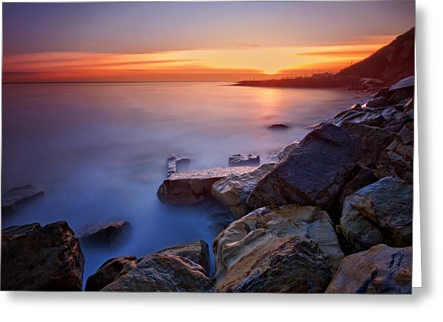 Beach Decor Posters Greeting Cards - Rock a nore Hastings Greeting Card by Mark Leader