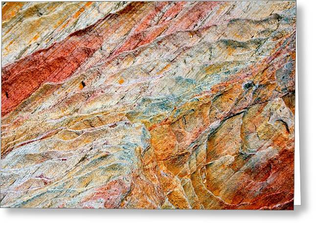 Layers Greeting Cards - Rock Abstract #2 Greeting Card by Stuart Litoff