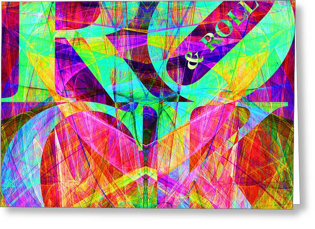Grateful Dead Band Greeting Cards - Rock And Roll 20130708 Fractal Greeting Card by Wingsdomain Art and Photography
