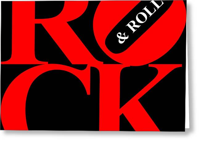 Grateful Dead Band Greeting Cards - Rock And Roll 20130708 Red Black White Greeting Card by Wingsdomain Art and Photography